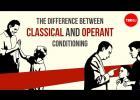 Rozdíl mezi klasickým a operantním podmiňováním
